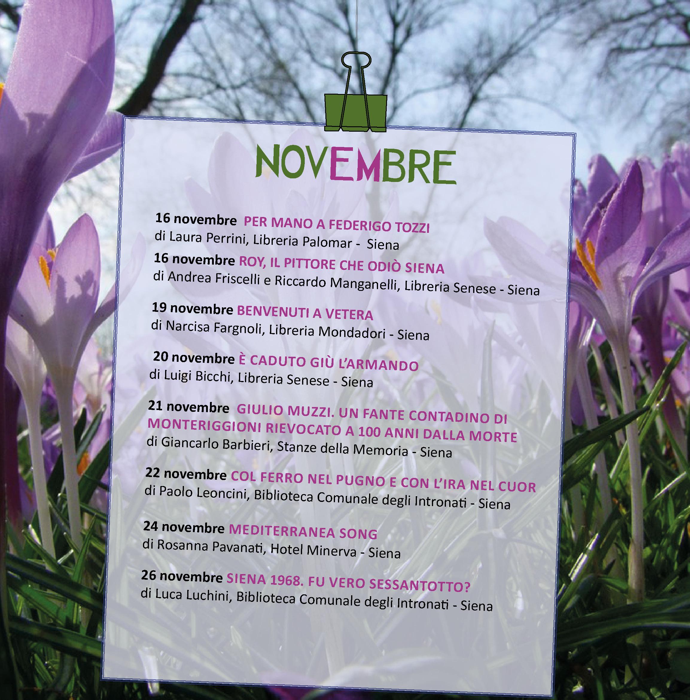 Presentazioni di Novembre